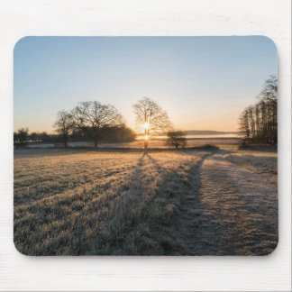 Frost sunset mouse pad