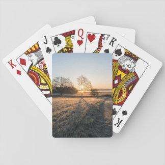 Frost sunset poker deck