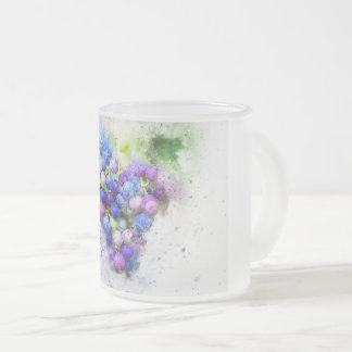 Frosted, 10oz, glass, mug, design, custom, image frosted glass coffee mug