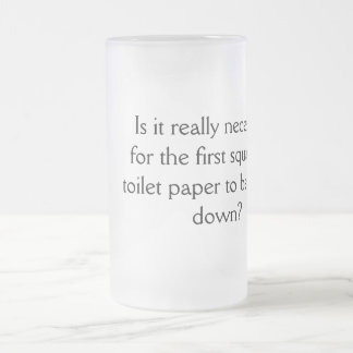 Frosted 16 oz Frosted Glass Mug Inspirational YACF