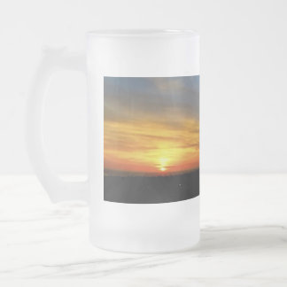 Frosted 16 oz Frosted Glass Mug Sunset
