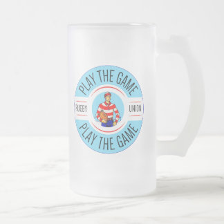 Frosted 16 oz Glass Rugby Mug