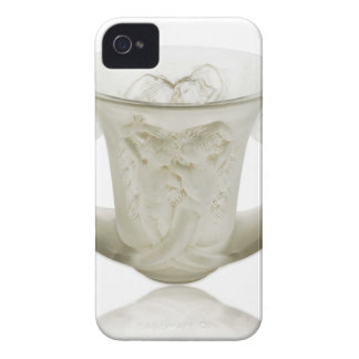 Frosted Art Deco vase with two cherubs. Case-Mate iPhone 4 Cases
