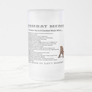 Frosted Beer Stein Combat Medic Glass Beer Mug