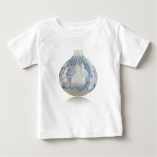 Frosted blue Art Deco vase with fruit. Baby T-Shirt