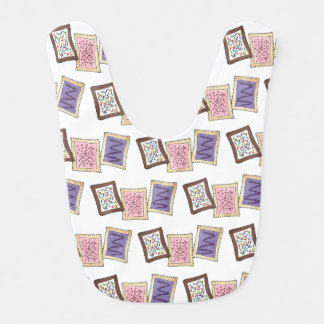 Frosted Breakfast Toaster Pastry Junk Food Foodie Bib