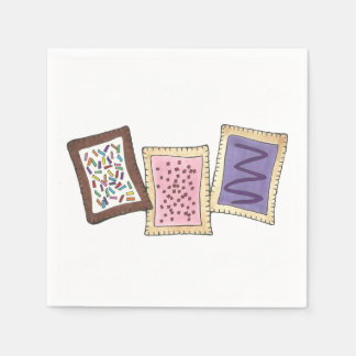 Frosted Breakfast Toaster Pastry Junk Food Foodie Disposable Napkins
