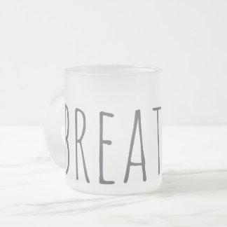 frosted breathe love mug