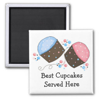 Frosted Cupcakes with Cute Saying Magnet
