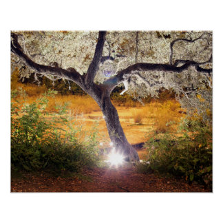 Frosted Fairy Tree Poster