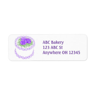 Frosted Floral Bakery Cake Label