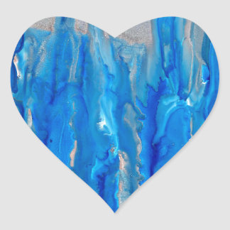 frosted forest 121517 heart sticker