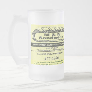 Frosted Glass Design - M&N Logo 1 Frosted Glass Beer Mug