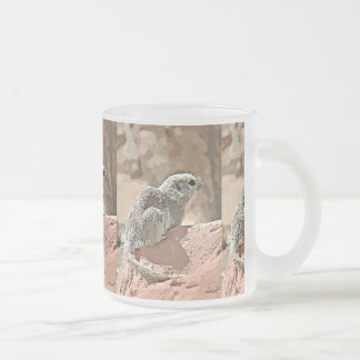 Frosted Glass Mug Ground Squirrel in Cartoon