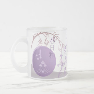 Frosted Glass Mug - Japanese Spring