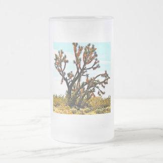 Frosted Glass Mug - Joshua Tree