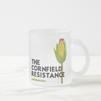 Frosted Glass Mug - The Cornfield Resistance