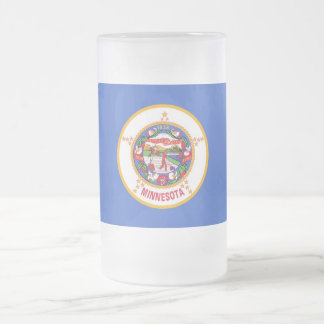 Frosted Glass Mug with flag of Minnesota