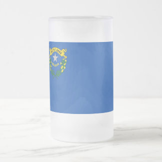 Frosted Glass Mug with flag of Nevada