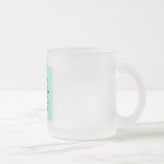 Frosted Glass Mug with social media TSU Writing.