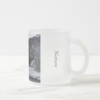 frosted glass natural winter landscape snows frosted glass coffee mug