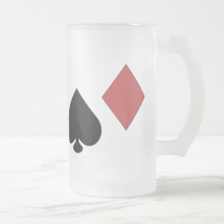 Frosted Glass POKER MUG
