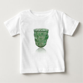 Frosted Green Art Deco glass vase with Roses. Baby T-Shirt