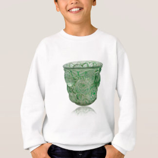 Frosted Green Art Deco glass vase with Roses. Sweatshirt