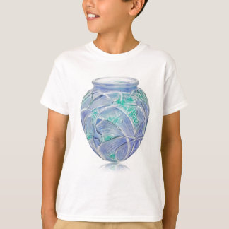 Frosted green Art Deco vase with grasshoppers. T-Shirt