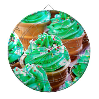 Frosted Green Cupcakes - Sweet Bakery Print Dart Boards