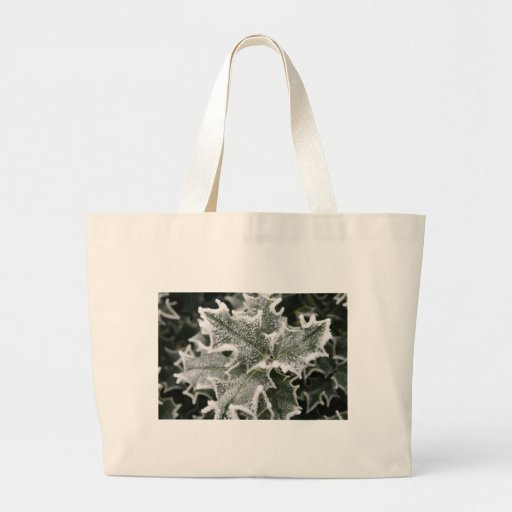 Frosted Holly Leaves Bags