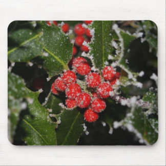 Frosted Holly Mouse Pad
