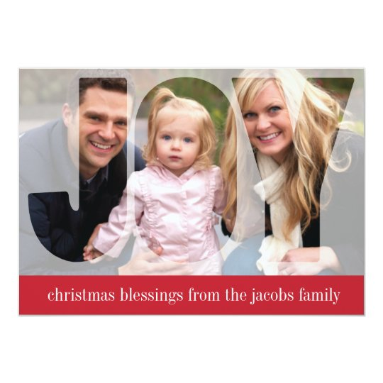 'Frosted Joy' (Ruby) Holiday Photo Card