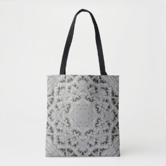 Frosted Lace Doily Medallion w/Shoulder Strap Tote Bag
