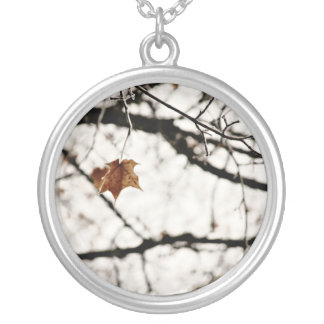 Frosted Leaf Necklace