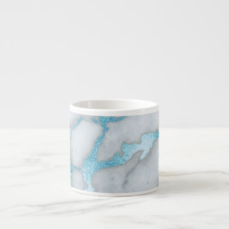 Frosted Marble Blue Grey White Expresso Mug