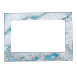Frosted Marble Blue Grey White Magnetic Frame