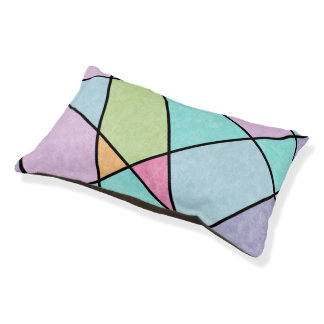 Frosted pastel abstract geometric design pet bed