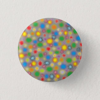 Frosted Polka Dots 3 Cm Round Badge