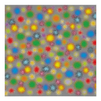 Frosted Polka Dots Poster