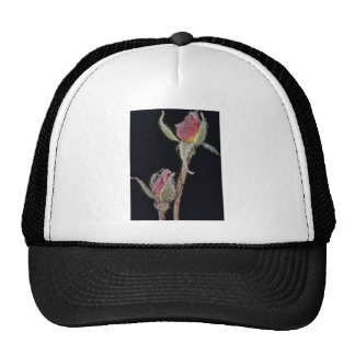 Frosted romance Pink flowers Trucker Hat