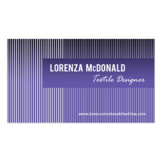 Frosted Stripes - Textile Designer Fabric Design Pack Of Standard Business Cards