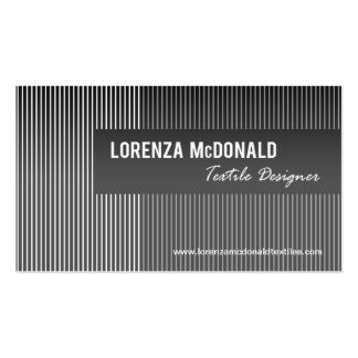 Frosted Stripes - Textile Designer Fabric Design Pack Of Standard Business Cards