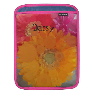 Frosted Summer Orange Gerbera Daisy iPad Mini Case Sleeves For iPads