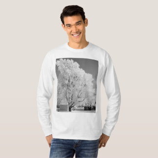Frosted tree long sleeve t-shirt for him