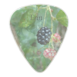 Frosted Wild Blackberry Summer Guitar Pick