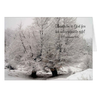Frosted Winter Trees Christian Christmas Card