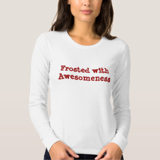 Frosted with Awesomeness Red Tshirts
