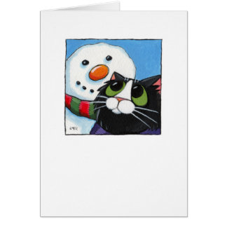 Frosty and Sox - Christmas Cat Card