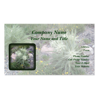 Frosty Ball: Alpine Wildflowers Business Card Template